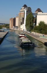 Grands moulins and canal de l'Ourcq in Pantin