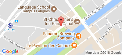 St Christopher's Paris Hostel, 64-72 Quai de la Seine, 75019 PARIS
