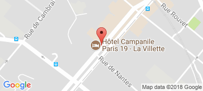 Campanile Paris 19 La Villette, 147/151 avenue de Flandre, 75019 PARIS